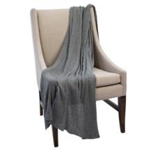 Murray Hogarth Knit Blanket in Dark Grey - Closeouts
