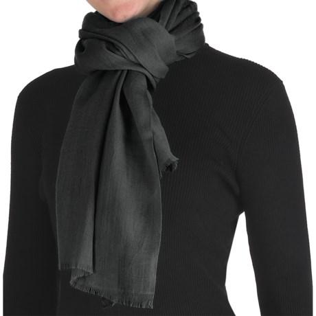 Murray Hogarth Pashmina Scarf - Merino Wool (For Women) in Black