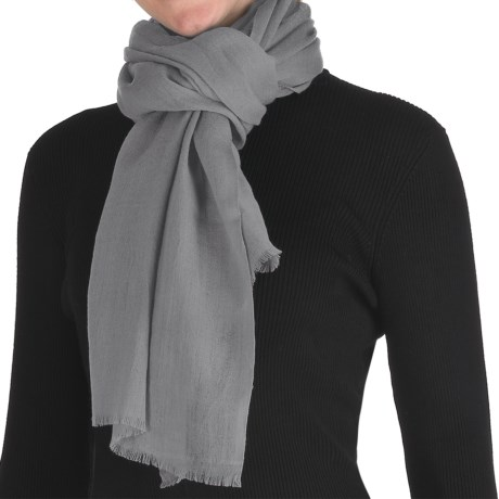 Murray Hogarth Pashmina Scarf - Merino Wool (For Women) in Grey