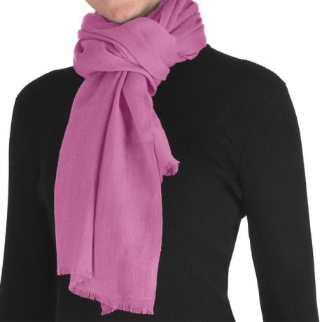 Murray Hogarth Pashmina Scarf - Merino Wool (For Women) in Rose Pink