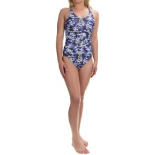 Muscleback Competition Swimsuit (For Women) in Blue/Lava Grey - 2nds