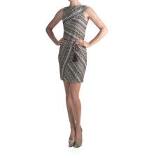 Muse Pointelle Knit Zigzag Dress - Sleeveless (For Women) in Brown Multi - Closeouts