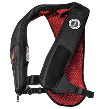Mustang Survival Elite 38 Type II Inflatable PFD Life Jacket in Grey/Red - Closeouts