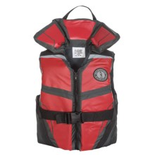 Mustang Survival Lil' Legends 100 Type II PFD Life Jacket (For Big Kids) in Red/Grey - Closeouts