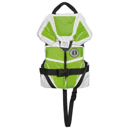 Mustang Survival Lil' Legends 100 Type II PFD Life Jacket (For Infants and Toddlers) in White/Green - Closeouts