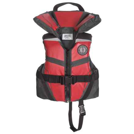 Mustang Survival Lil' Legends 100 Type II PFD Life Jacket (For Little Kids) in Red/Grey - Closeouts