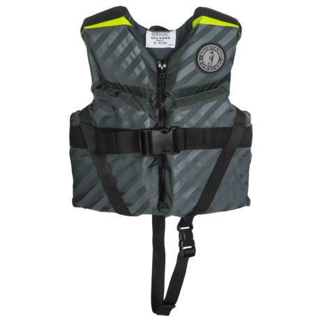 Mustang Survival Lil' Legends 70 Type III PFD Life Jacket (For Little and Big Kids) in Grey