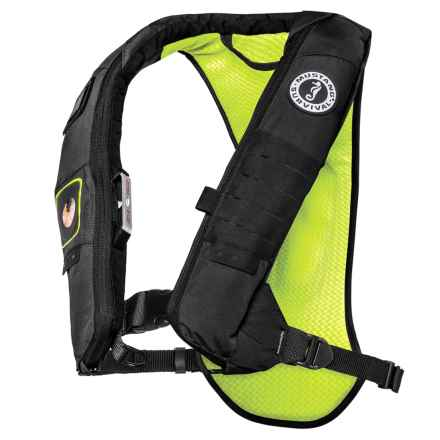 Mustang Survival Survival Elite 28K Type III Inflatable PFD Life Jacket in Gray/Yellow - Closeouts