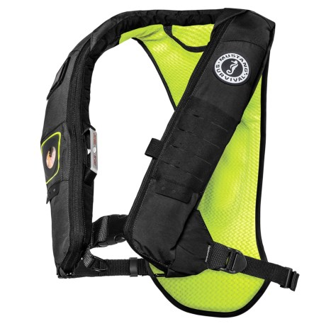 Mustang Survival Survival Elite 28K Type III Inflatable PFD Life Jacket in Gray/Yellow