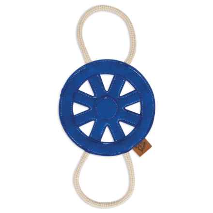 MuttNation Blue Wagon Wheel Rope Dog Toy in Blue - Closeouts