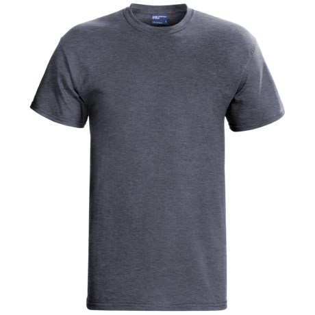 MV Sport Cotton T-Shirt - Short Sleeve (For Men and Women) in Charcoal Heather