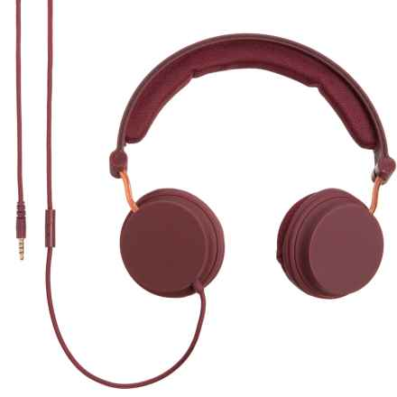 MVMT Marlow Wired Headphones in Burgundy - Closeouts