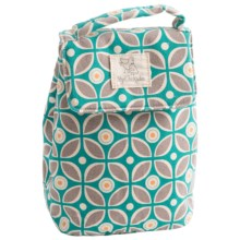 My Chickadee Lunch Tote - Organic Cotton Canvas in Kaleidoscope Teal - Closeouts