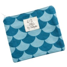 My Chickadee Reusable Sandwich Bag - Organic Cotton in Fish Teal - Closeouts