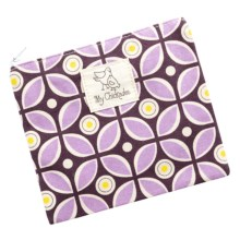 My Chickadee Reusable Sandwich Bag - Organic Cotton in Kaleidoscope Plum - Closeouts