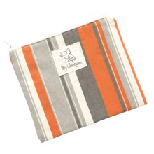 My Chickadee Reusable Sandwich Bag - Organic Cotton in Stripes Persimmon - Closeouts