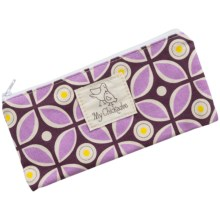 My Chickadee Reusable Snack Bag - Organic Cotton in Kaleidoscope Plum - Closeouts