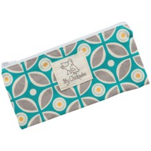 My Chickadee Reusable Snack Bag - Organic Cotton in Kaleidoscope Teal - Closeouts