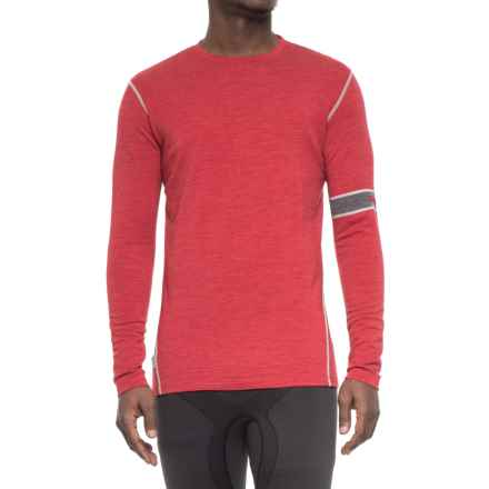 MyPakage First Layer Base Layer Top - Merino Wool, Long Sleeve (For Men) in Crimson Heather - Closeouts