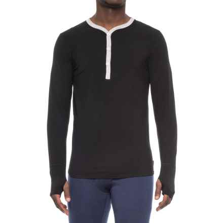 MyPakage Henley Base Layer Top - Merino Wool, Long Sleeve (For Men) in Black/Heather - Closeouts
