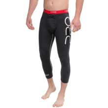 MyPakage Pro Series First Layer Base Layer Bottoms - 3/4 Length (For Men) in Black/Red - Closeouts