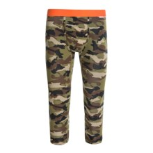 MyPakage Weekday Printed Cropped Underwear Bottoms (For Men) in Camo/Orange - Closeouts