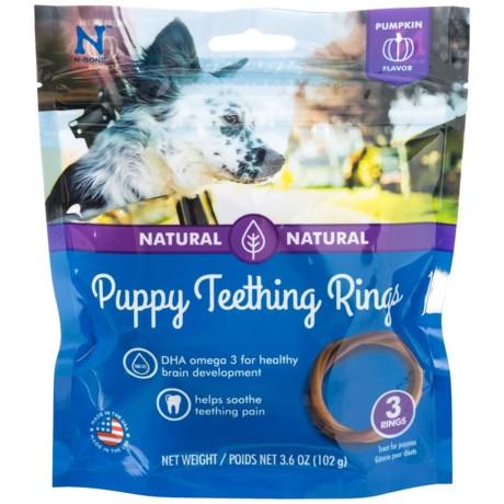 N-Bone Puppy Teething Ring - Pumpkin, 3-Pack in See Photo