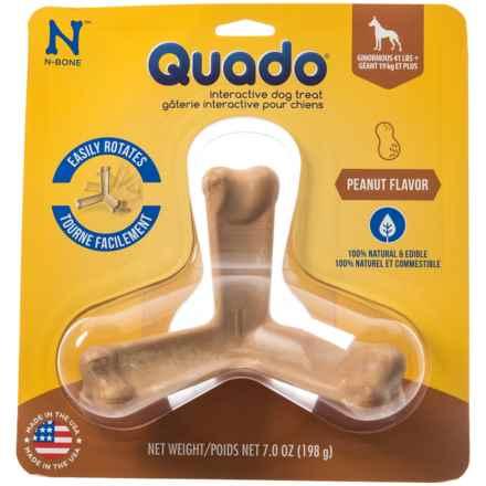N-Bone Quado Interactive Dog Treat - Peanut, Ginormous, Single in See Photo - Closeouts