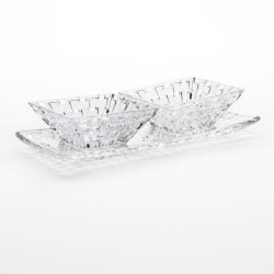 Nachtmann Dancing Stars Bossa Nova Serving Set - Lead-Free Crystal, 3-Piece in Crystal