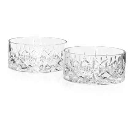 Nachtmann Noblesse Bavarian Crystal Nut Bowls - Set of 2, 11 oz. in Clear - Closeouts