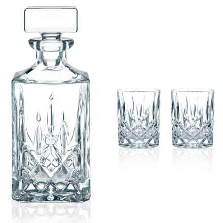 Nachtmann Noblesse Crystal Whiskey Decanter Set - 3-Piece in Crystal - Overstock