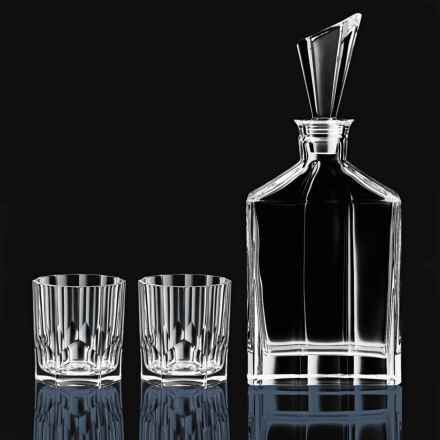 Nachtmann Whisky Decanter Set - 3-Piece, Bavarian Crystal in Crystal - Closeouts
