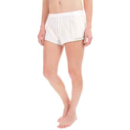 Naked Cotton Voile Shorts (For Women) in White - Closeouts