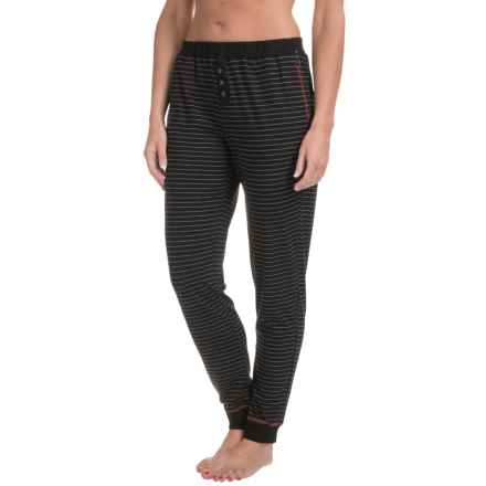 Naked Cuffed Lounge Pants - Stretch Cotton (For Women) in Gotham Stripe - Closeouts