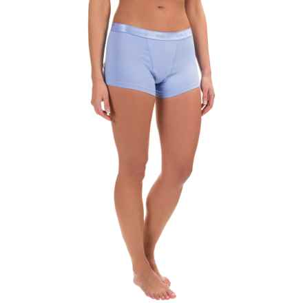 Naked Essential Cotton Stretch Boy Shorts (For Women) in Light Blue - Closeouts