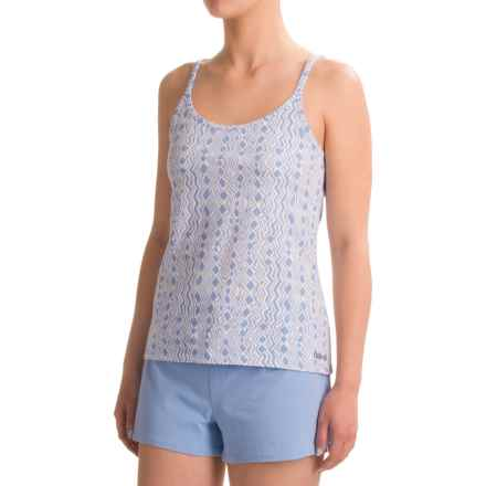 Naked Essential Cotton Stretch Camisole (For Women) in Aztec Stripe Blue - Closeouts