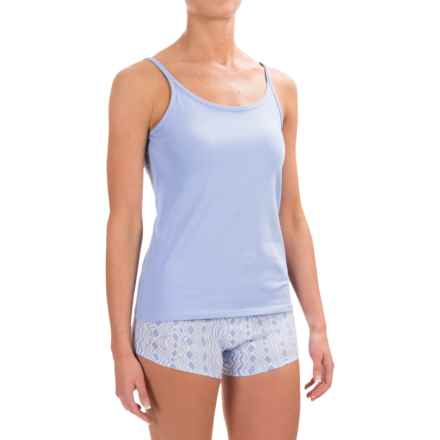 Naked Essential Cotton Stretch Camisole (For Women) in Light Blue - Closeouts