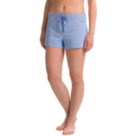 Naked Essential Cotton Stretch Shorts (For Women) in Light Blue - Closeouts