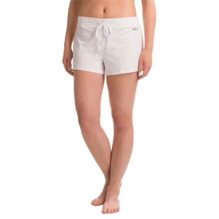 Naked Essential Cotton Stretch Shorts (For Women) in White - Closeouts