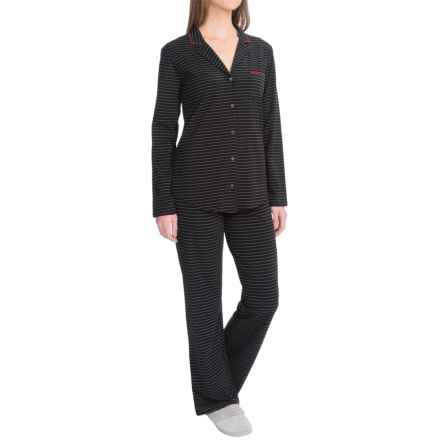 Naked Essential Fashion Pajamas - Stretch Cotton, Long Sleeve (For Women) in Gotham Stripe - Closeouts