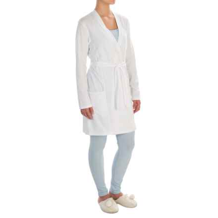 Naked Essential Wrap Robe - Long Sleeve (For Women) in White - Closeouts