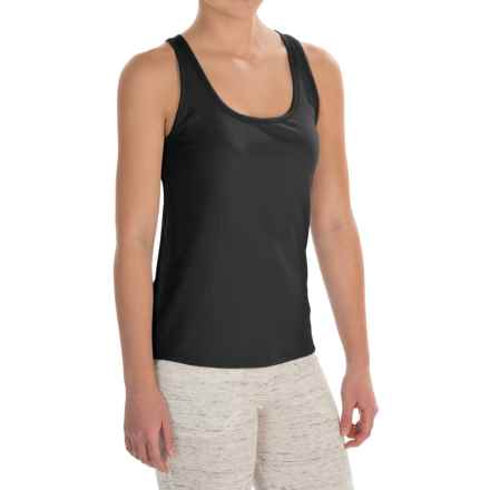 Naked Pima Cotton Rib Tank Top (For Women) in Black - Closeouts