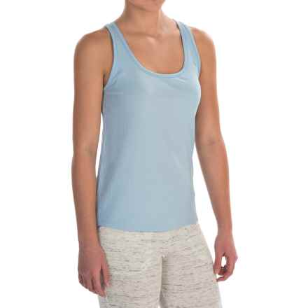 Naked Pima Cotton Rib Tank Top (For Women) in Powder Dusk - Closeouts