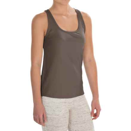 Naked Pima Cotton Rib Tank Top (For Women) in Truffle - Closeouts