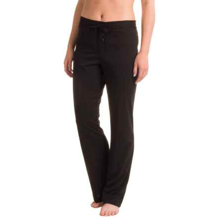 Naked Pima Cotton Sleep Pants (For Women) in Black - Closeouts