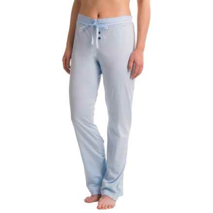 Naked Pima Cotton Sleep Pants (For Women) in Powder Dusk - Closeouts