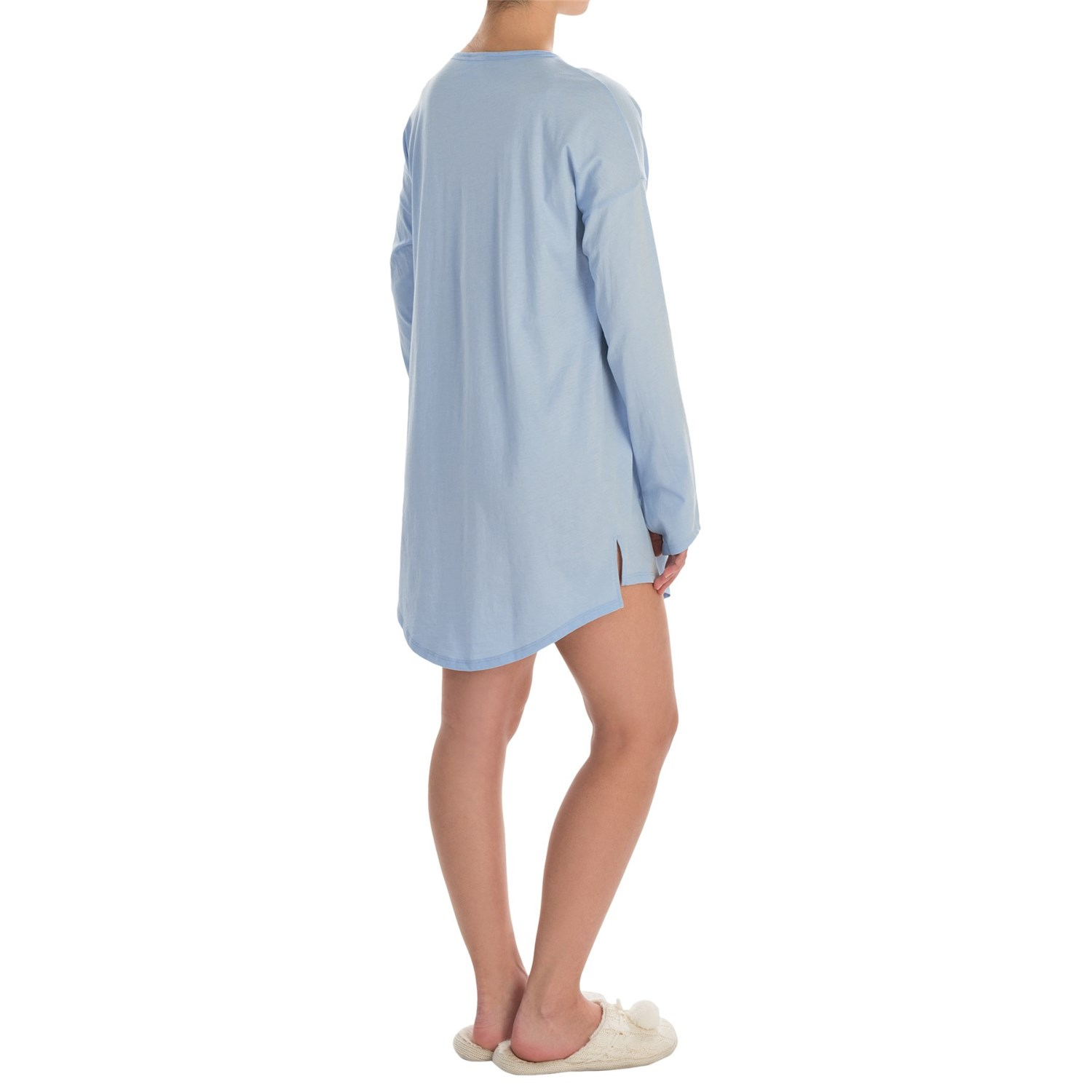 Naked pima cotton sleep shirt for women save 74 Long cotton sleep shirts