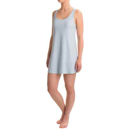 Naked Pima Rib Chemise - Sleeveless (For Women) in Powder Dusk - Closeouts