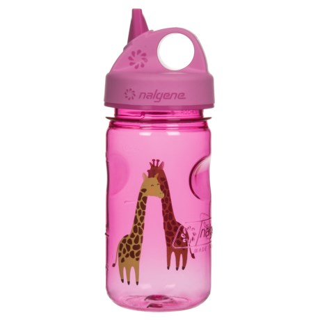 Nalgene Grip-N-Gulp Water Bottle - 10 fl.oz. (For Kids) in Giraffe