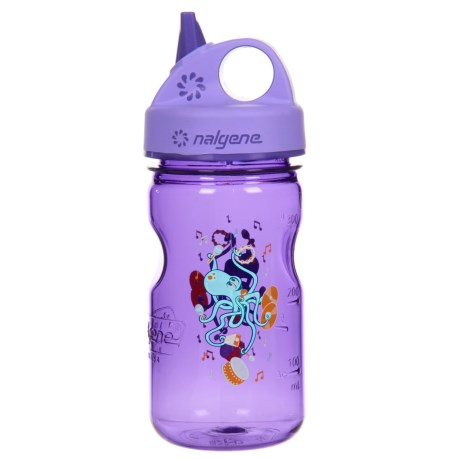 Nalgene Grip-N-Gulp Water Bottle - 10 fl.oz. (For Kids) in Octopus